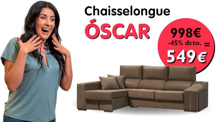 Oferta Sofá Chaiselongue OSCAR